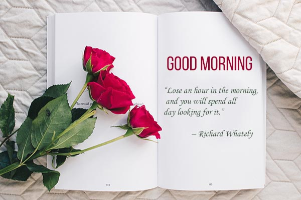 Good Morning Quotes and Images for lose in the hour in every morning