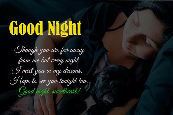 Good Night Sweet Dream Sms for Love