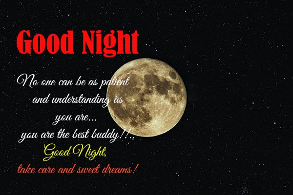 Good Night and sweet dream messages for your best friends