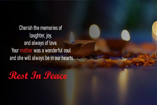 Condolence Messages and Images for lovely Mother