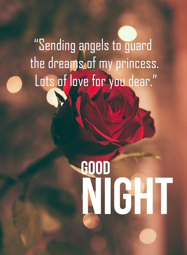 Good Night Wishes and Images for Dear Love