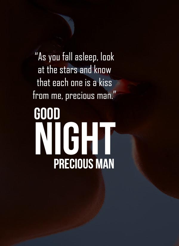 Good Night love wishes for precious man
