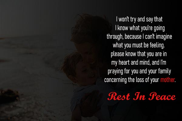 RIP Messages Sms and Images for Mother