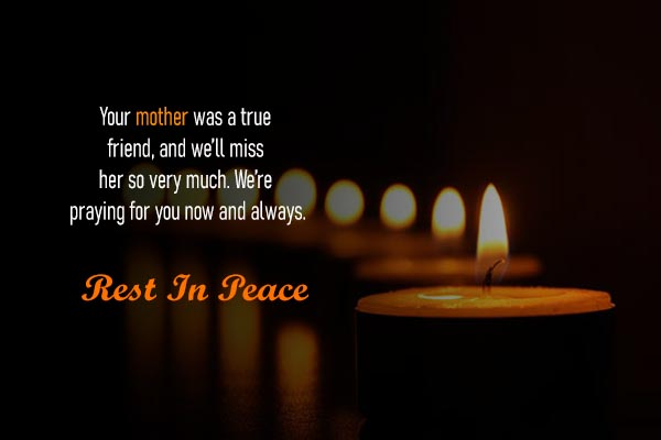 RIP Messages for Mother