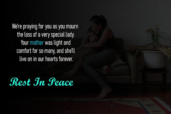 RIP Sms in English for Lovely Mother