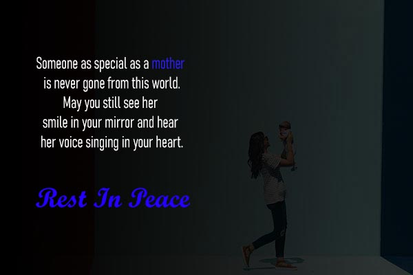 Rest In Peace Sms for Mother
