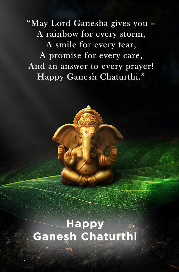 Happy Ganesh Chaturthi wishes and SMS for Friends and family